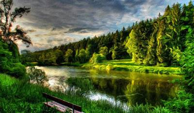 Tree Painting - Nature Landscape Light by Margaret J Rocha