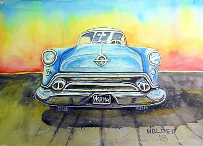 Painting - 54 Oldsmobile by Steven Holder