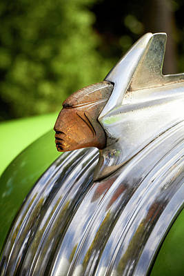 Photograph - 54 Pontiac Hood Ornament by David Beebe