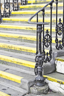 Bannister Photograph - Stone Steps by Tom Gowanlock