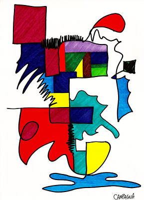 Sharpies Drawing - Untitled by Teddy Campagna
