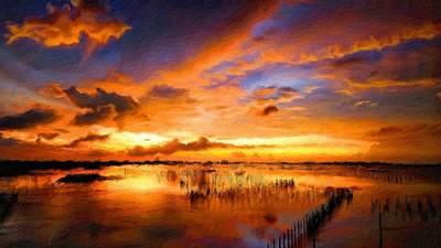 Bob Ross Digital Art - W H Landscape by Victoria Landscapes