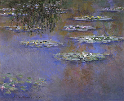 Weeping Painting - Water Lilies by Claude Monet