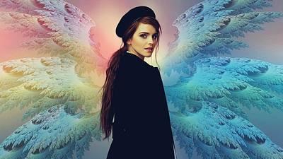 Hermione Granger Digital Art - 54146 Emma Watson Wings Harry Potter Hermione Granger by Anne Pool