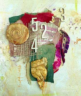 Mixed Media - #5423, Joy And Happiness by Barbara Lemley