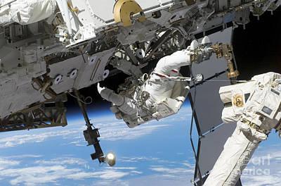 Photograph - Astronaut Participates by Stocktrek Images