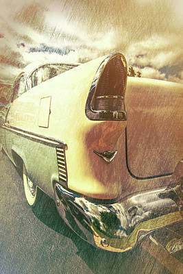 55 Bel Air Taillight Art Print by Mike Burgquist