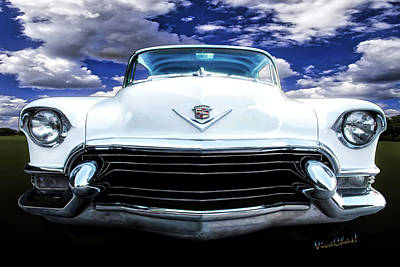 Cadillac Photograph - 55 Cadillac Down Inna Meadow Up In Kerrville by Chas Sinklier