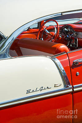 Side Panel Photograph - 55 Chevrolet Sport Coupe by Tim Gainey