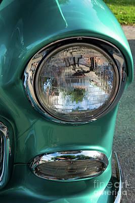 Photograph - 55 Chevy Headlight by Jennifer White