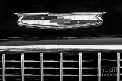 Photograph - '55 Chevy Hood Emblem by Dennis Hedberg