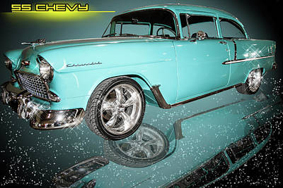 Photograph - 55 Chevy by Scott Cordell