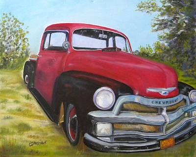 Painting - 55 Chevy Truck by Cheryl Damschen