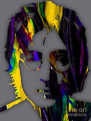 Popular Mixed Media - John Lennon Collection by Marvin Blaine