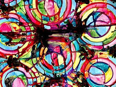 Jugglery Of Colors Art Print by Baljit Chadha
