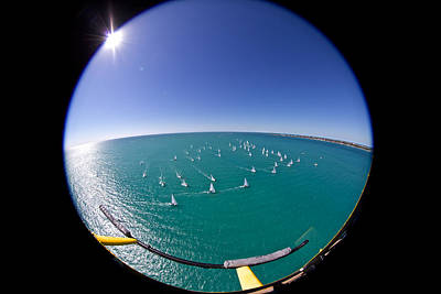 Photograph - Key West Race Week Aerial by Steven Lapkin