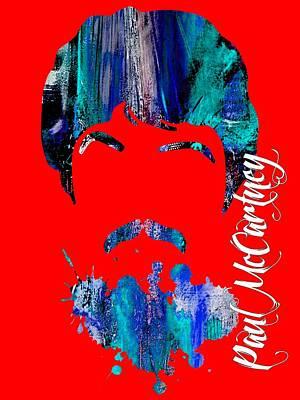 Paul Mccartney Collection Art Print by Marvin Blaine