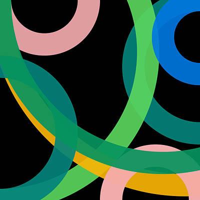 Drawing - 55 - Phi Word Circle by REVAD David Riley