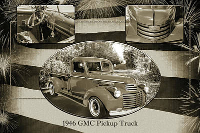 Photograph - 5514.05 1946 Gmc Pickup Truck by M K Miller