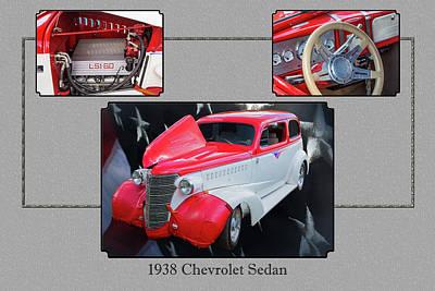 Photograph - 5515.01 1938 Chevrolet Sedan by M K Miller