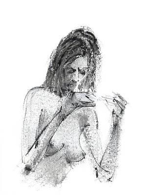 Nude Drawing - Rcnpaintings.com by Chris N Rohrbach