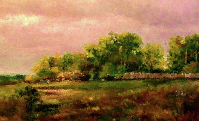 Autumn Painting - Nature Art Landscape by Edna Wallen