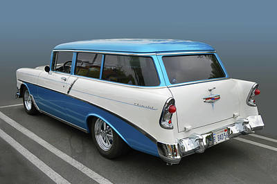 Photograph - 56 Chevy 2-door Wagon by Bill Dutting
