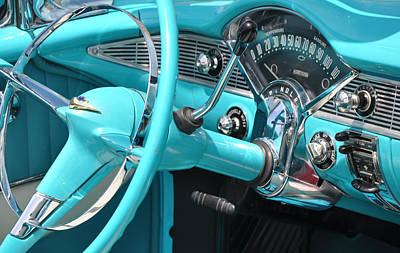 A Good Year Photograph - '56 Chevy Belair Convertible by Colleen English