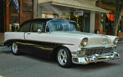 Art Print featuring the photograph '56 Chevy Hot Rod by Victor Montgomery
