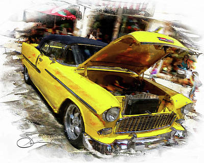 Digital Art - 56' Chevy by Robert Smith