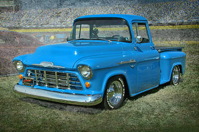 56 Chevy Pickup Photograph - '56 Chevy Truck by Victor Montgomery