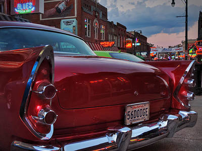 Photograph - '56 Dodge On Beale  by Lance Vaughn
