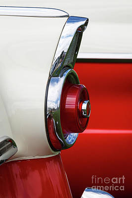 Photograph - '55 Ford Taillight 1 by Dennis Hedberg