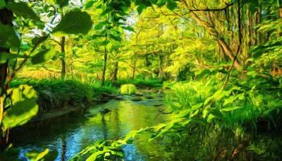 Autumn Painting - Oil Painting Landscape Pictures Nature by Margaret J Rocha