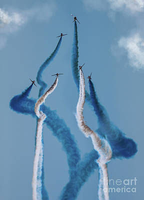 Photograph - Red Arrows by Angel Tarantella