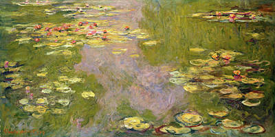 Monet Painting - Water Lilies by Claude Monet