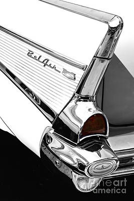 Photograph - '57 Belair Taillight by Dennis Hedberg