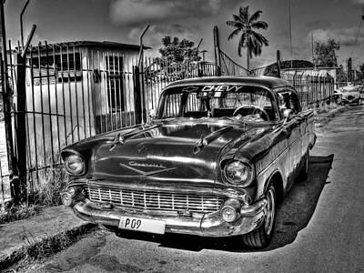 Photograph - 57 Chevy Bw by Michael Damiani