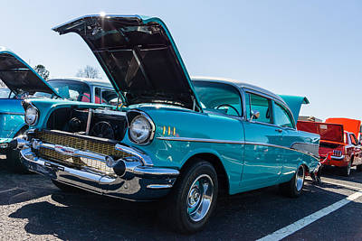Photograph - 57 Chevy - Ehhs Car Show by Michael Sussman