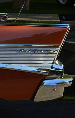 Photograph - 57 Chevy Fin by Dean Ferreira