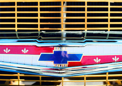 Photograph - 57' Chevy Gold Grille by Rospotte Photography