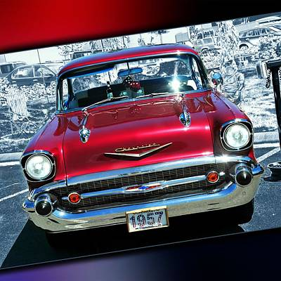 Photograph - '57 Chevy by Sher Falls