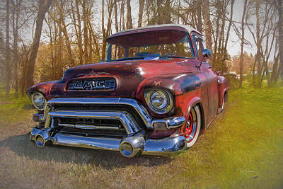 Photograph - 57 Chevy Truck by Bill Posner