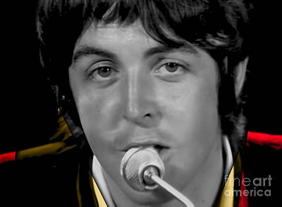 Icons Mixed Media - Paul Mccartney Collection by Marvin Blaine