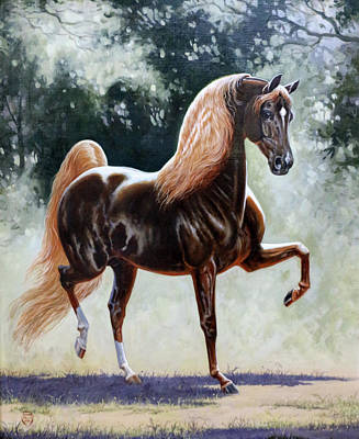 Morgan Horse Painting - #57 - Remembering A Star by Jeanne Mellin Herrick