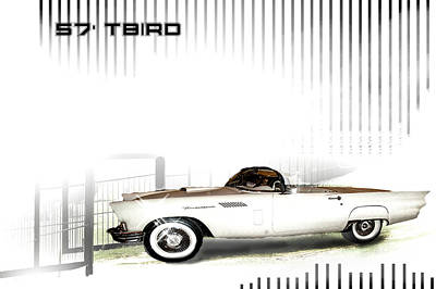 Photograph - 57' T-bird by Scott Cordell