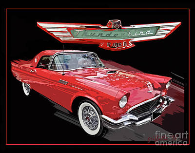 Photograph - 57 T Bird by Tom Griffithe