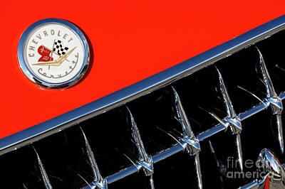 Photograph - '57 Vette Emblem by Dennis Hedberg