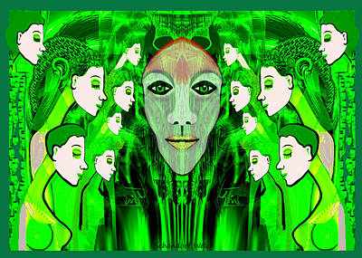 Digital Art - 574  Green Symphony by Irmgard Schoendorf Welch