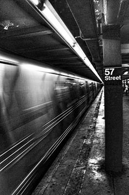 Photograph - 57th Street Platform by Barry C Donovan